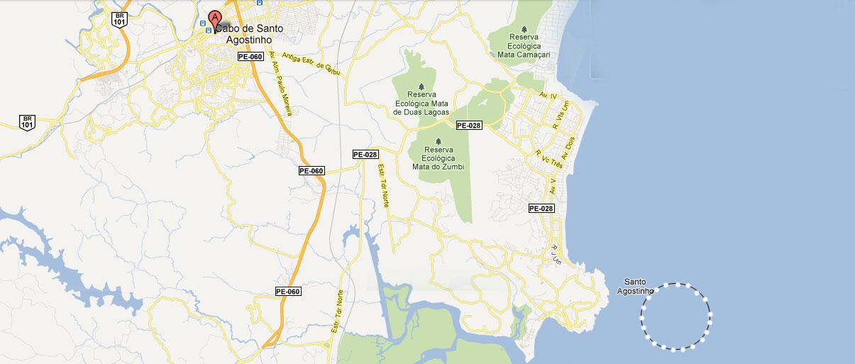 Nau Santa Rosa Cabo De Santo Agostinho Esconde Tesouro Milionário - Cabo de santo agostinho map